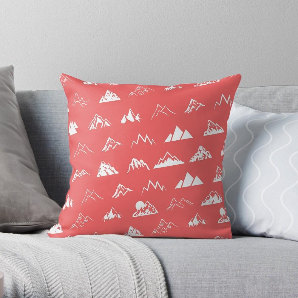My mountains Throw Pillow
