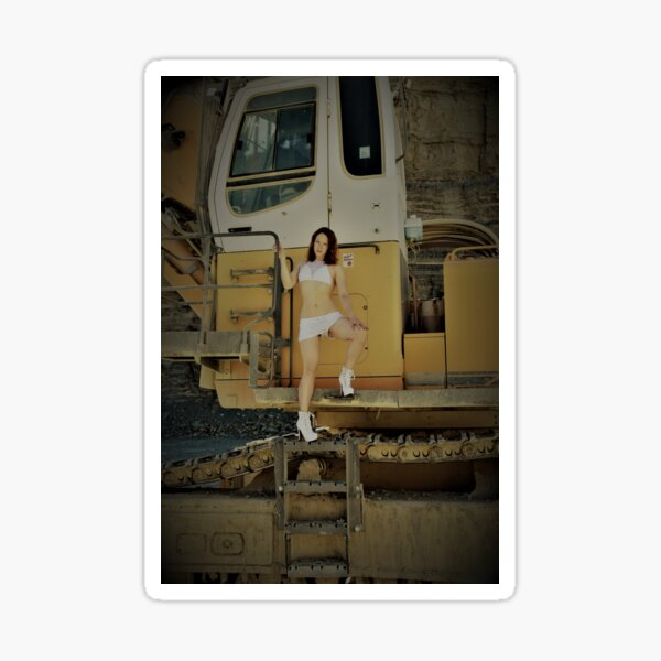 Mädchen und Maschinen von Hardigen Fotographie  Sticker