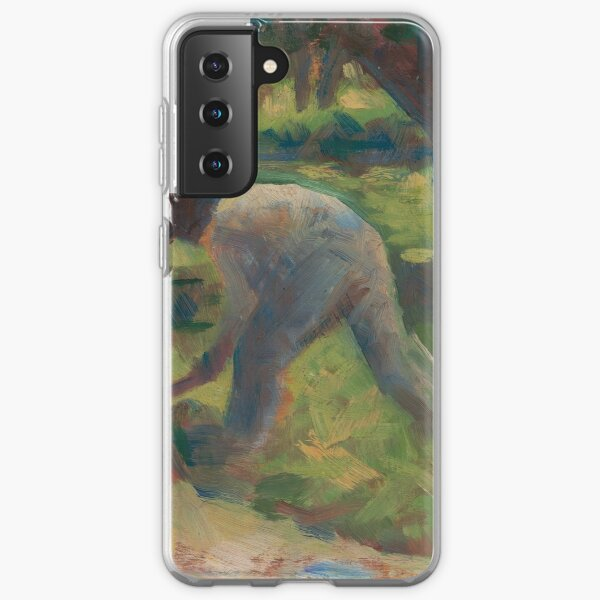 Georges Seurat, Peasant with a Hoe, 1882 Painting Samsung Galaxy Soft Case