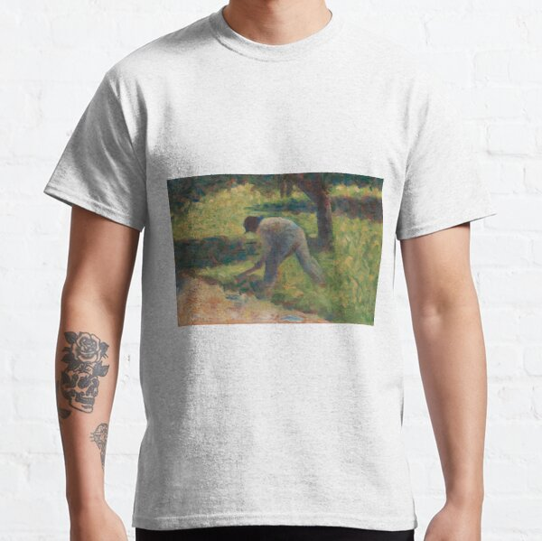Georges Seurat, Peasant with a Hoe, 1882 Painting Classic T-Shirt