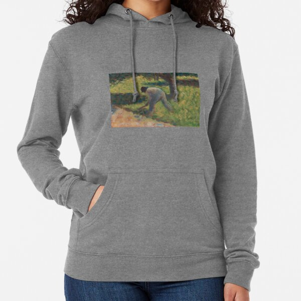 Georges Seurat, Peasant with a Hoe, 1882 Painting Lightweight Hoodie