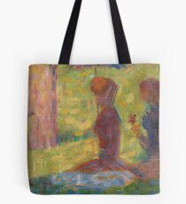 "Georges Seurat, Study of Figures for ""La Grande Jatte"", 1884/1885 Painting Tote Bag"