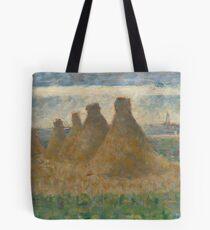 Georges Seurat, Haystacks, 1882 Painting Tote Bag