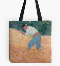 Georges Seurat, The Stone Breaker, 1882 Painting Tote Bag