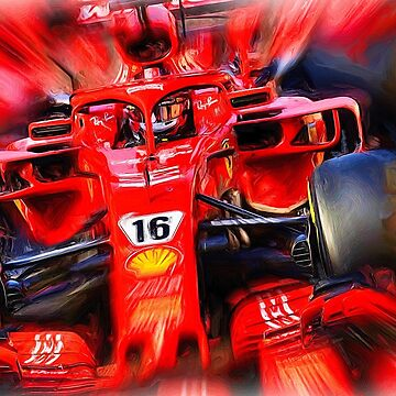 Charles Leclerc and Red Power by Glineur
