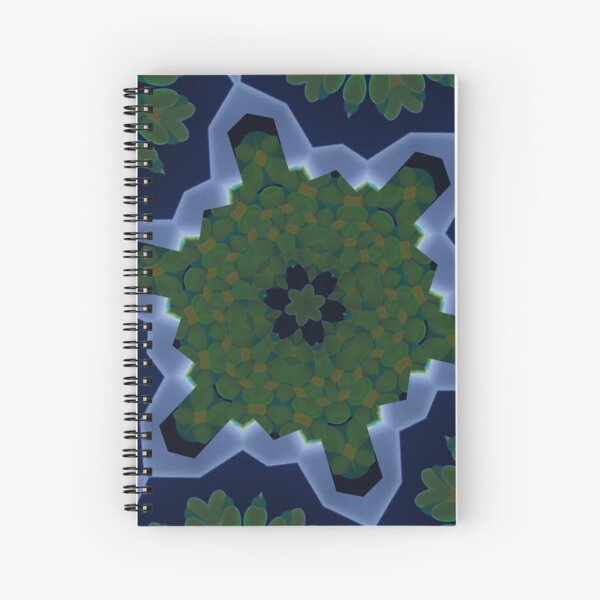 Peas and Ice Pedals Circle Design Offering at Green Bee Mee Spiral Notebook
