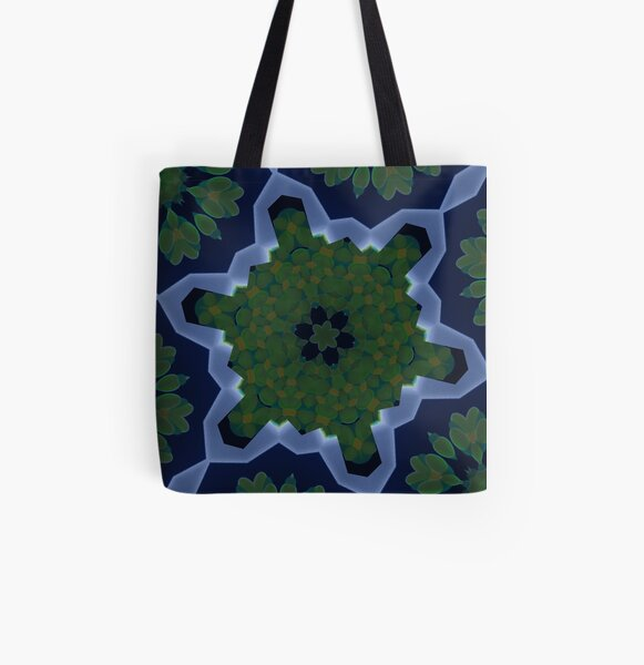 Peas and Ice Pedals Circle Design Offering at Green Bee Mee All Over Print Tote Bag