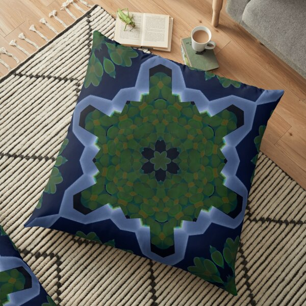 Peas and Ice Pedals Circle Design Offering at Green Bee Mee Floor Pillow