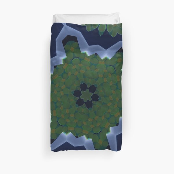 Peas and Ice Pedals Circle Design Offering at Green Bee Mee Duvet Cover