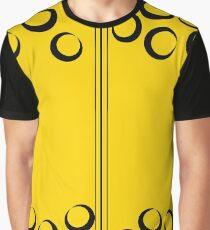 Gelb Schwarz Karo Grafik T-Shirt