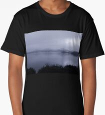 Misty Fife View of the Forth Bridges Long T-Shirt
