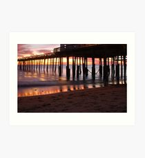 Kitty Hawk Pier Sunrise Art Print