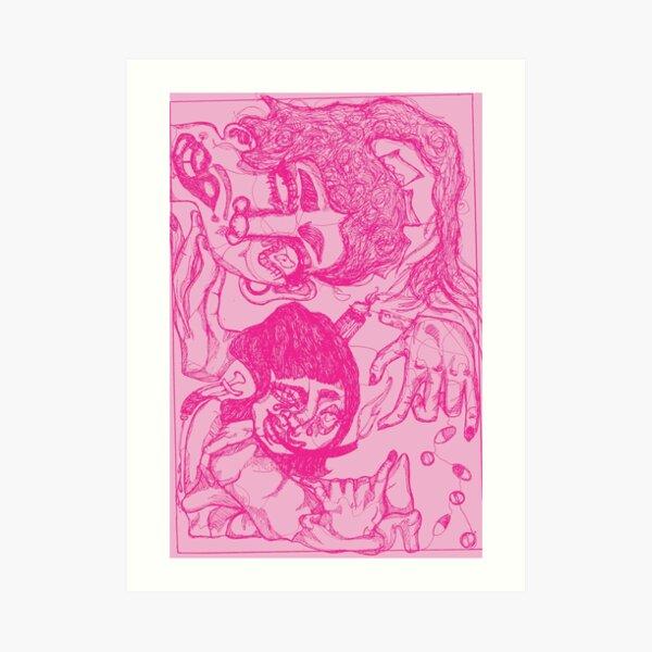 Trippy Pink Impression artistique