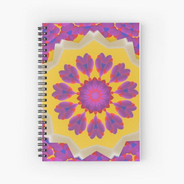 Purple Pedals 3D in the Sun Design Offering at Green Bee Mee Spiral Notebook