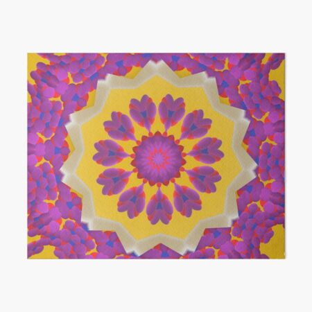 Purple Pedals 3D in the Sun Design Offering at Green Bee Mee Art Board Print