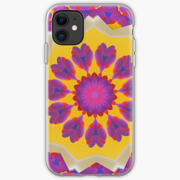 Purple Pedals 3D in the Sun Design Offering at Green Bee Mee iPhone Soft Case