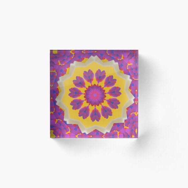Purple Pedals 3D in the Sun Design Offering at Green Bee Mee Acrylic Block