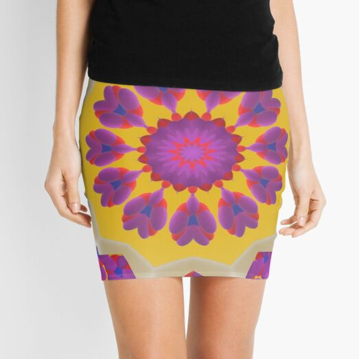 Purple Pedals 3D in the Sun Design Offering at Green Bee Mee Mini Skirt
