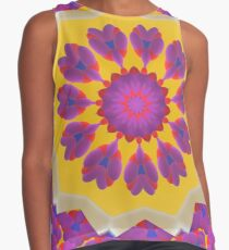 Purple Pedals 3D in the Sun Design Offering at Green Bee Mee Contrast Tank