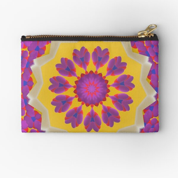 Purple Pedals 3D in the Sun Design Offering at Green Bee Mee Zipper Pouch