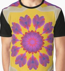 Purple Pedals 3D in the Sun Design Offering at Green Bee Mee Graphic T-Shirt