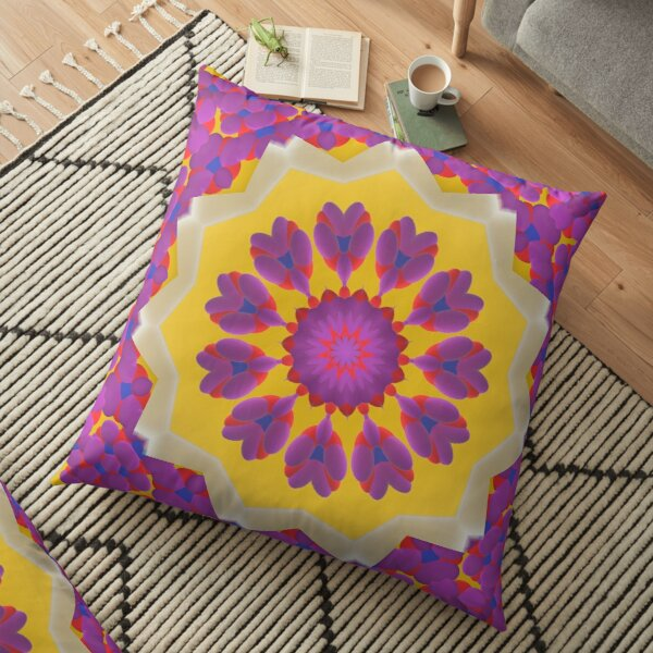 Purple Pedals 3D in the Sun Design Offering at Green Bee Mee Floor Pillow