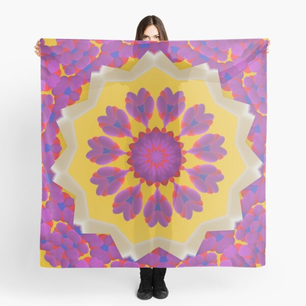Purple Pedals 3D in the Sun Design Offering at Green Bee Mee Scarf