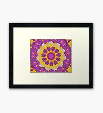 Purple Pedals 3D in the Sun Design Offering at Green Bee Mee Framed Print