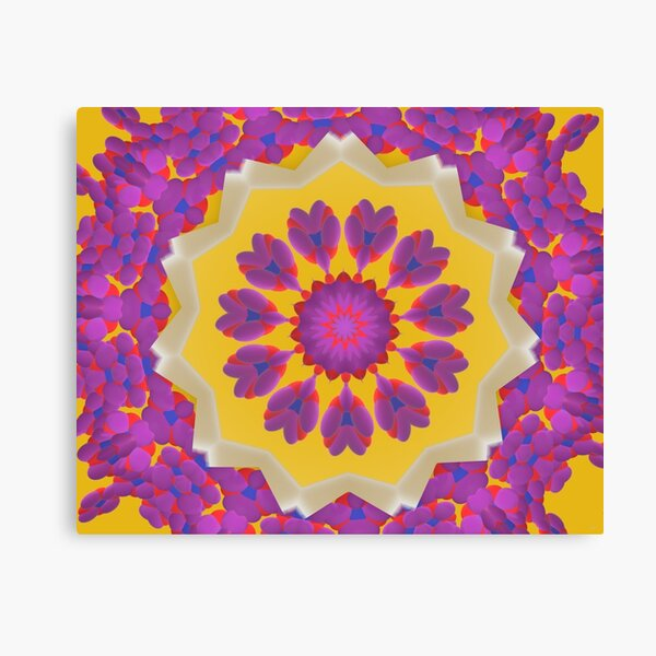Purple Pedals 3D in the Sun Design Offering at Green Bee Mee Canvas Print