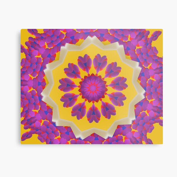 Purple Pedals 3D in the Sun Design Offering at Green Bee Mee Metal Print