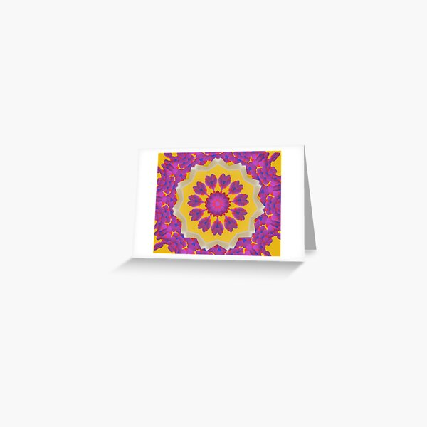 Purple Pedals 3D in the Sun Design Offering at Green Bee Mee Greeting Card