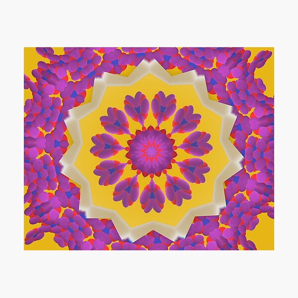Purple Pedals 3D in the Sun Design Offering at Green Bee Mee Photographic Print