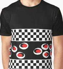 Schwarz Weiß Karo Muster Grafik T-Shirt