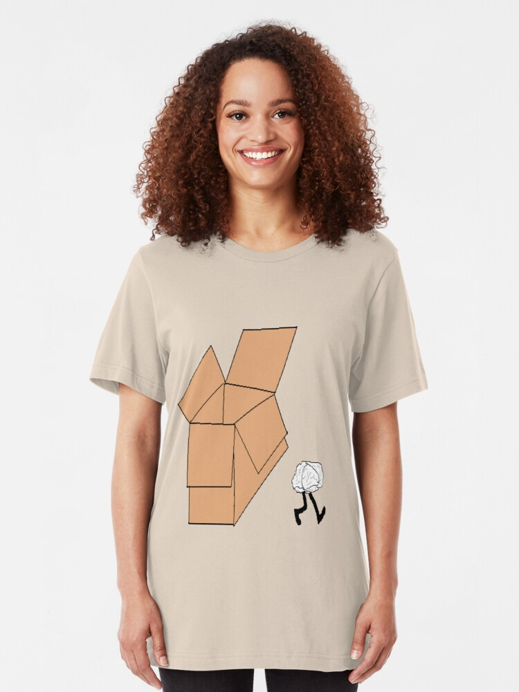 Alternate view of Think Outside of the Box Slim Fit T-Shirt