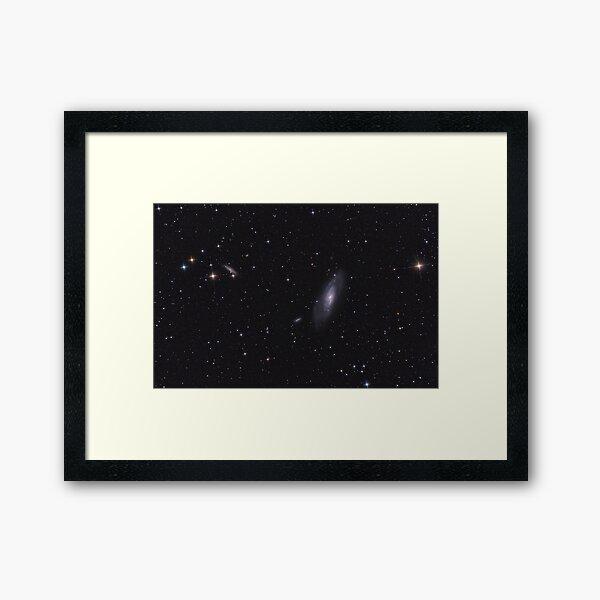 M106 Galaxy among stars of Milky Way. Framed Art Print