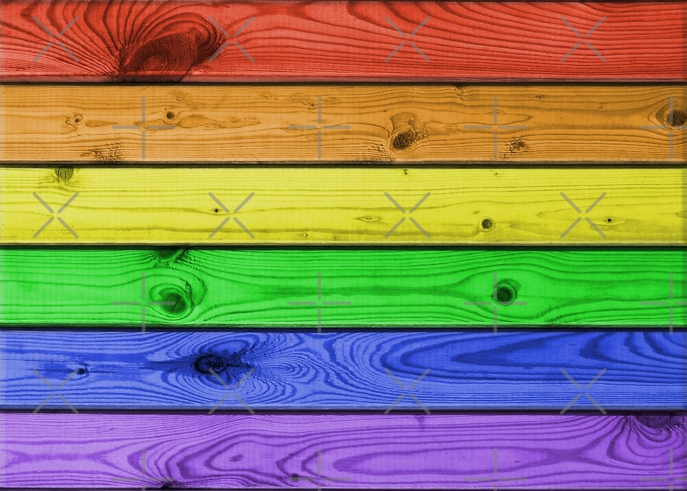 Rainbow Pride Wood Planks by technoqueer