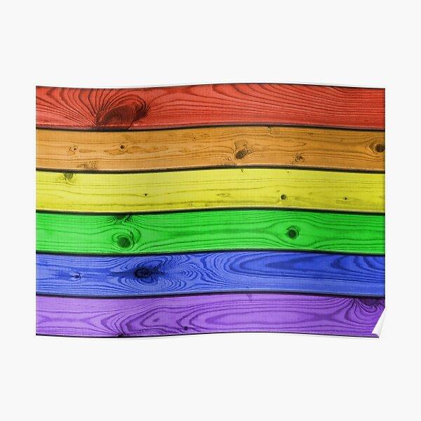 Rainbow Pride Wood Planks Poster