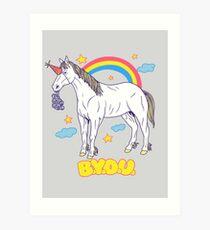 Bring Your Own Unicorn Art Print