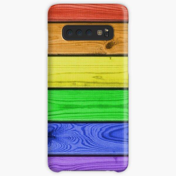 Rainbow Pride Wood Planks Samsung Galaxy Snap Case