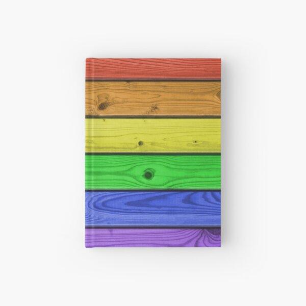 Rainbow Pride Wood Planks Hardcover Journal