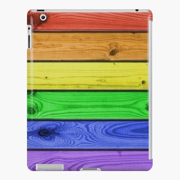 Rainbow Pride Wood Planks iPad Snap Case