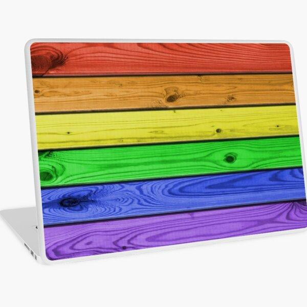 Rainbow Pride Wood Planks Laptop Skin