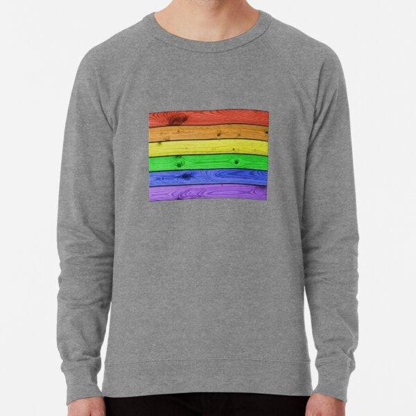 Rainbow Pride Wood Planks Lightweight Sweatshirt