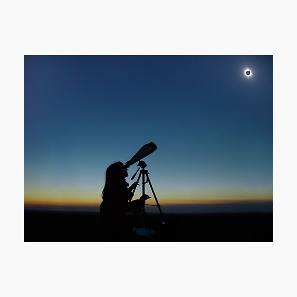 Total Solar Eclipse observation Photographic Print