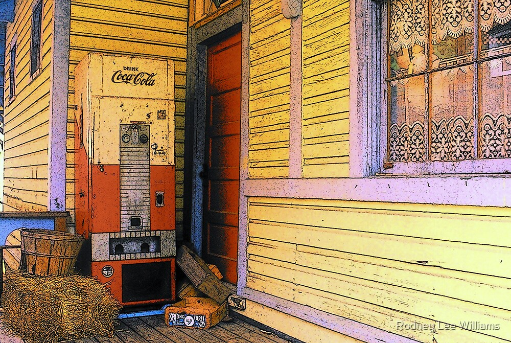 Old Coke Machine at Train Depot by Rodney Lee Williams