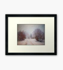 The Man in the Snowstorm Framed Print