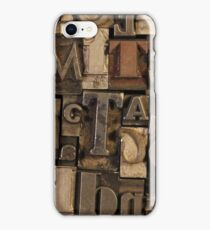 Letterpress iPhone Case/Skin