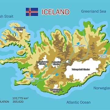 Iceland Map by alijun