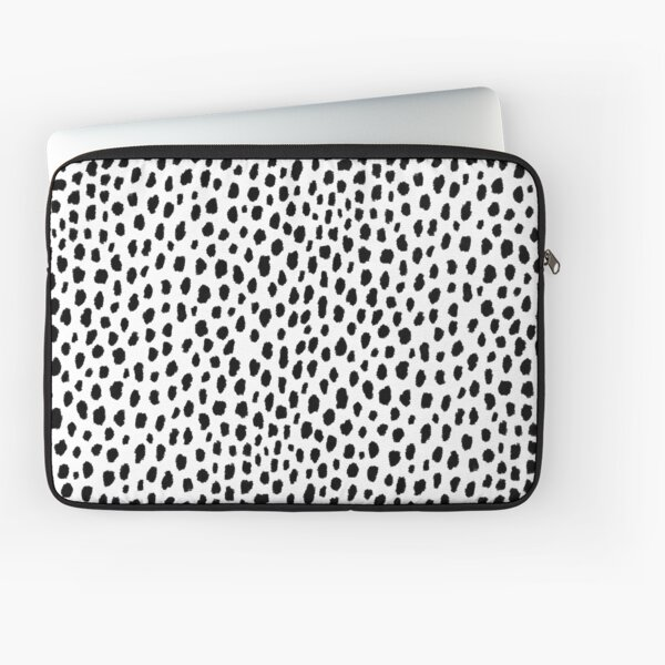 Dalmatian Spots (black/white) Laptop Sleeve