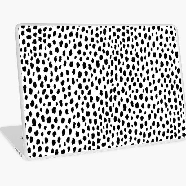 Dalmatian Spots (black/white) Laptop Skin